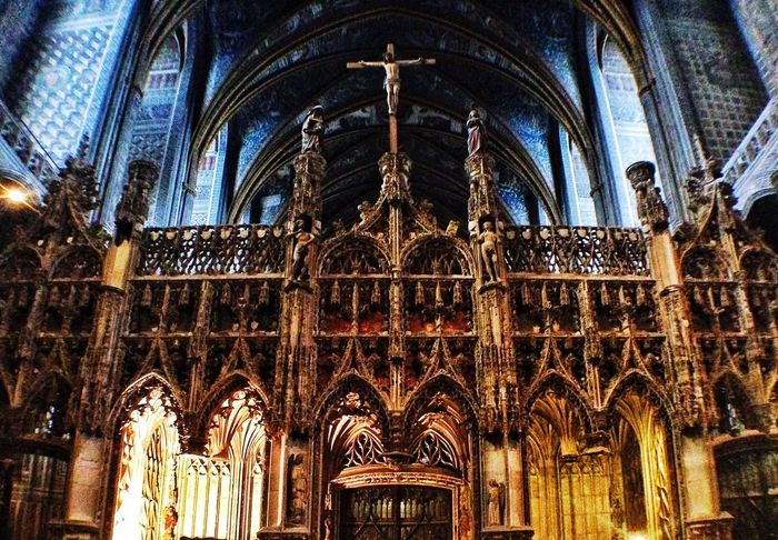 Albi Chretien Christmastime Church Churches Architecture Architecture_collection Architectural Detail Architecturelovers Architectureporn Interior Design Cathedral Catholic Jesus Gold Golden France Traveling Travel Photography