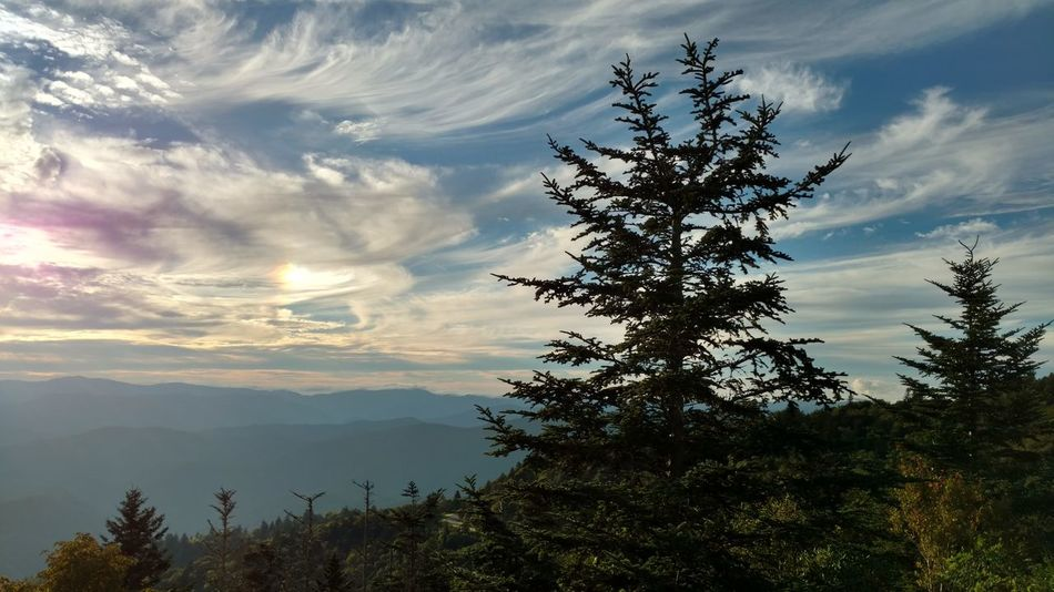 """Gorgeous clouds with a rare """"Sun Dog"""" up at Water Rock Knob in the beautiful Smokey Mountains!Landscape Cloud - Sky Sunset Nature Outdoors Sun Dogs In The Sky Crazy Cloud Formations Water Rock Knob, NC Love The Smokey Mountains Blue Ridge Parkway Fresh EyeEm Betterlandscapes Cell Phone Photography"""