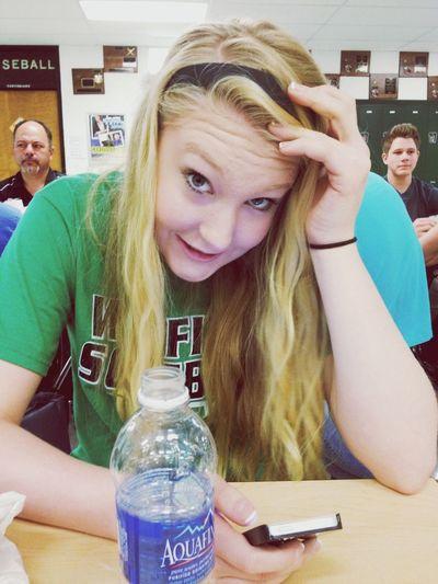 We hate school but Brandon is cute