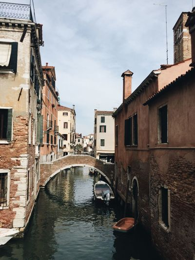 Venice Venezia Canal Canals Italy Architecture Boats Alley