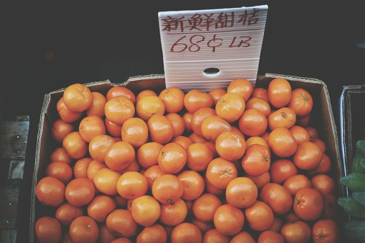 Close-up of oranges for sale