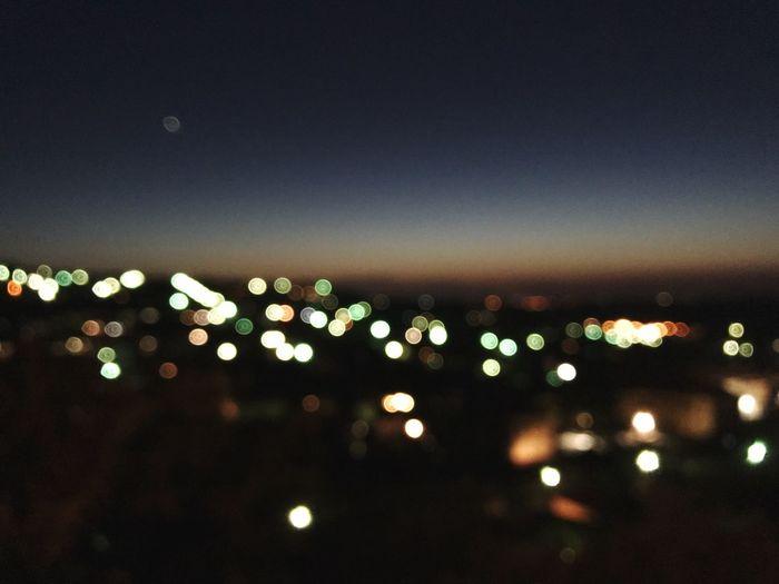 City lights at