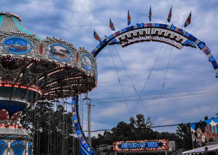 Carnival Coaster Park Carosel Sky