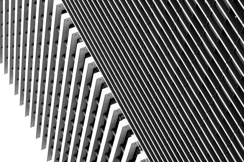Façade Abstract Architecture Blackandwhite Built Structure Contrast Modern Pattern Repetition Simplicity The Architect - 2018 EyeEm Awards
