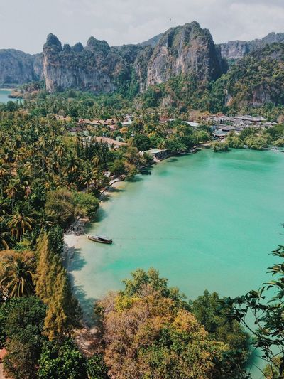 View point Thailand Water Mountain Nature Beauty In Nature No People Travel Destinations High Angle View Travel Outdoors Bay Thailand Krabi Blue Turquoise Colored Djungle Paradise