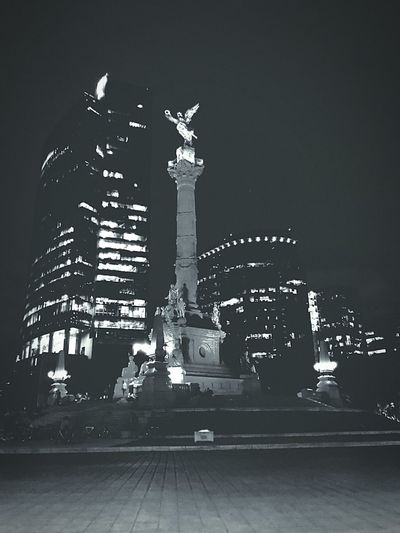 El icono de la independencia mexicana Night Sculpture Illuminated Travel Destinations First Eyeem Photo