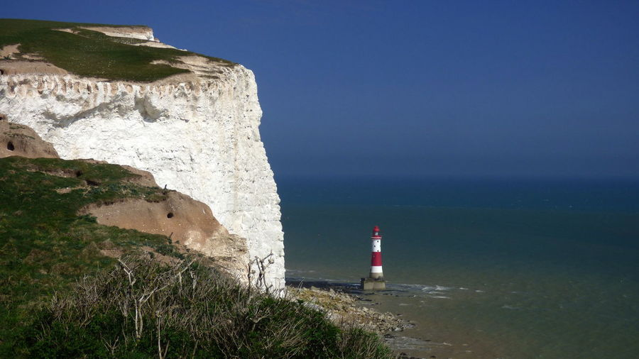 View of cliff at beachy head