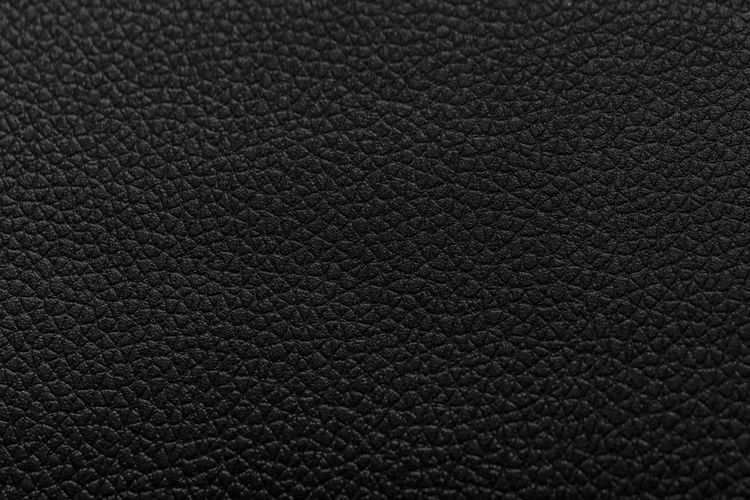 Textured  Backgrounds Textile Material Close-up Pattern Black Color Leather Background
