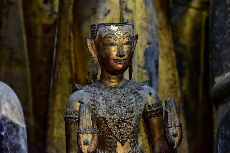 Statue Religion Front View Spirituality Gold Colored Sculpture Gold No People Close-up Indoors  Day