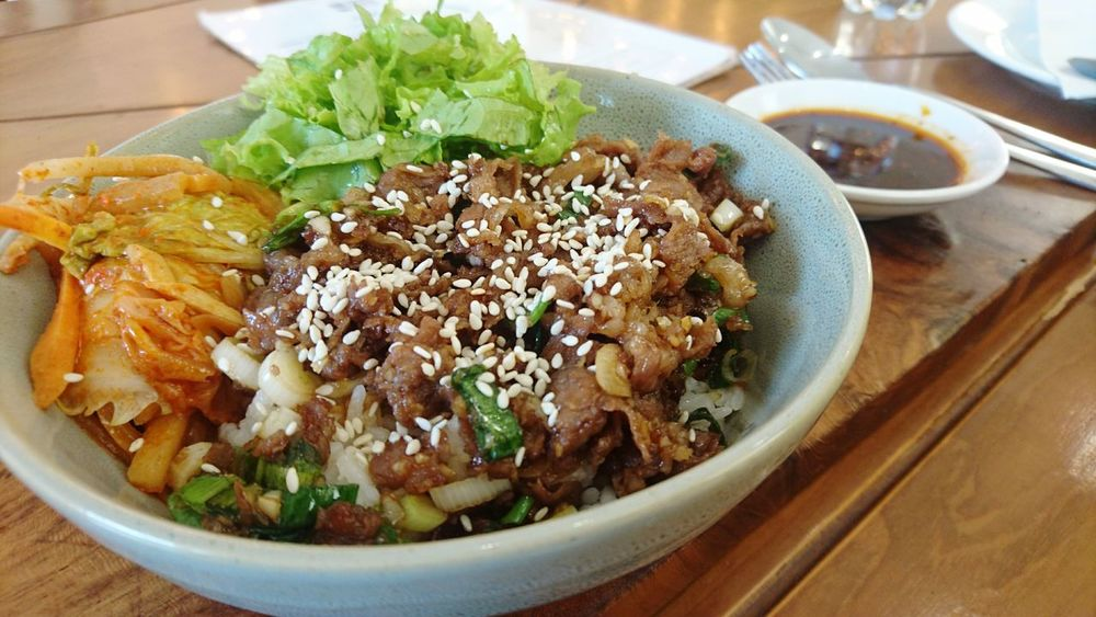 bulgogi by please please please Kuliner Kulinerbandung healthy eating Food And Drink Bowl Food Indoors  Ready-to-eat No People Close-up Freshness Day