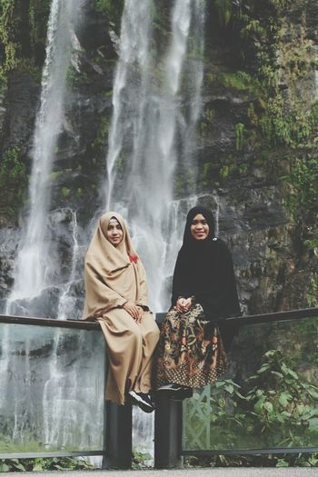 Women Around The World Two People Portrait Young Women Adults Only Females Women Outdoors Young Adult Water Smiling Adult People Day Wulaiwaterfall Waterfall Leisure Activity Mountain Happiness Freshness Power In Nature Hijabtraveller Enjoying Life Hijabsyari Proud To Be Muslimah
