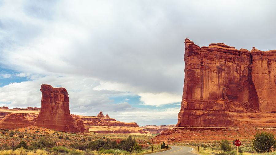 Arches National Park Cloud - Sky Copy Space Courthouse Towers Viewpoint Day June Landscape National Park Outdoors Red Sandstone The Great Outdoors - 2016 EyeEm Awards Tourism Travel Destinations Utah