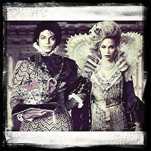 Michael Jackson & Beyonce.