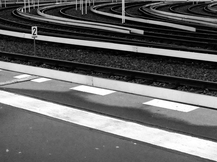 Blackandwhite Train Tracks Sbahn Warschauer Straße Lines & Curves Throw A Curve Number2