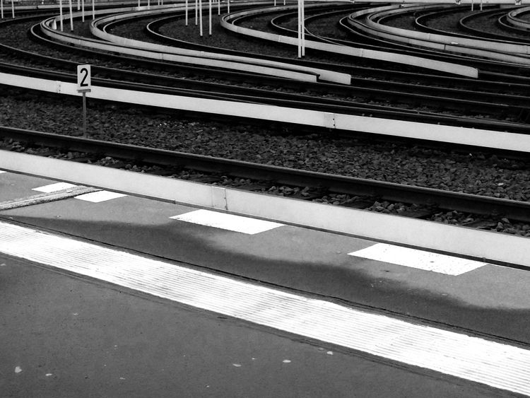 Blackandwhite Train Tracks Sbahn Warschauer Straße Lines & Curves Throw A Curve Number2