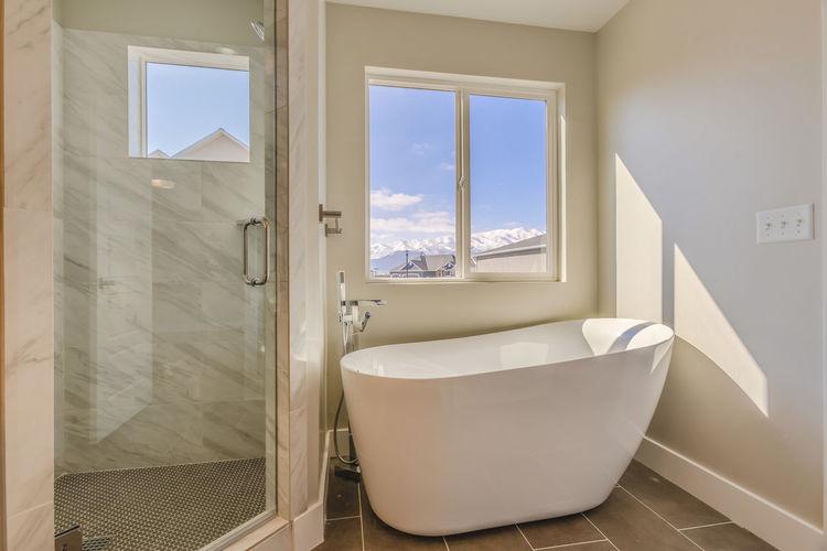 Open window of bathroom