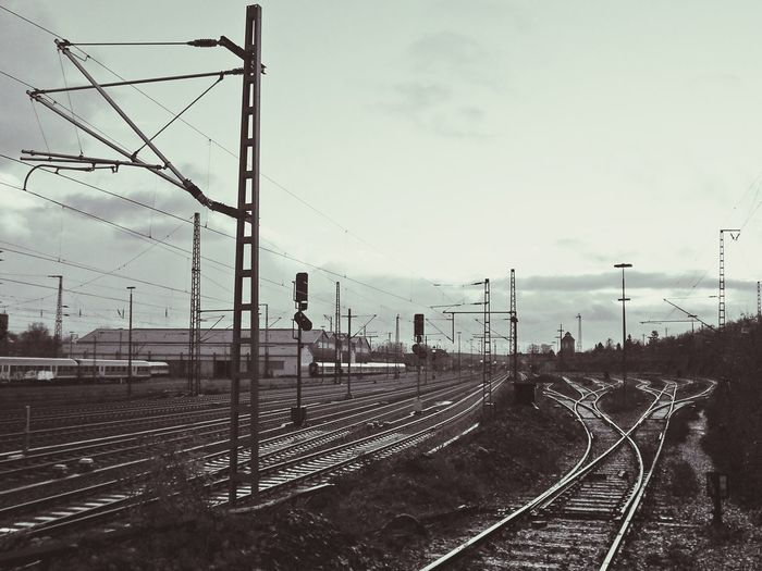Osnabrück Osnabrück Yard Railing Graffiti Niedersachsen GERMANY🇩🇪DEUTSCHERLAND@ Railway Train Train Station Blackandwhite Black And White Germany Eye4photography  #urbanana: The Urban Playground