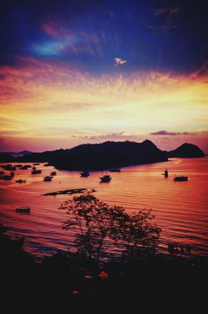 Labuan Bajo sunset Sunset Sea Outdoors Nature Beauty In Nature Landscape Travel Destinations Silhouette Photography INDONESIA Sky Beauty In Nature