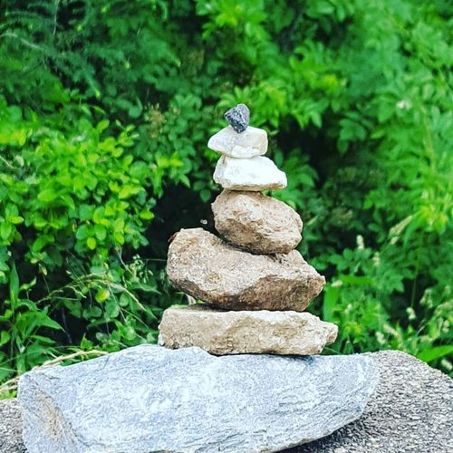 Rock tower for