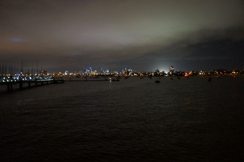 Melbourne City from St. Kilda Pier Light Pollution Light In The Darkness Light Night Lights Nightphotography Night View Night Sky Nightscape Night Shot Night Time Photography Nightshot Beach Nature Sand Large Group Of Animals Outdoors No People