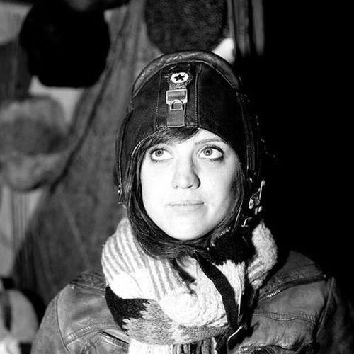 Ames. Aviator Femaleaviator Femaleportrait Black -and-white Blackandwhite Aviatorhat Fancydress Scarf Leatherjacket Brunette Hats Hatsandhoods Hatandscarf Womensfashion