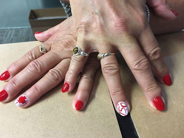 Cool. Canada150 Fingernails Canada Day Canada 150 Canada Coast To Coast 🇨🇦 Canada, Eh?