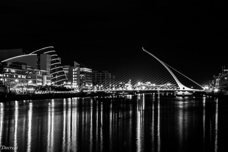 The Samuel Beckett bridge in Dublin Monochrome Blackandwhite Architecture Dublin