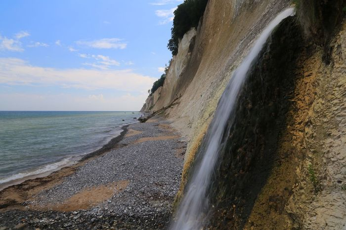 Beach Photography Cliffs Emptiness Empty Places Beach Beauty In Nature Cliff Day Horizon Over Water Jasmund National Park Nature No People Outdoors Scenics Sea Sky Tranquil Scene Tranquility Water Waterfall