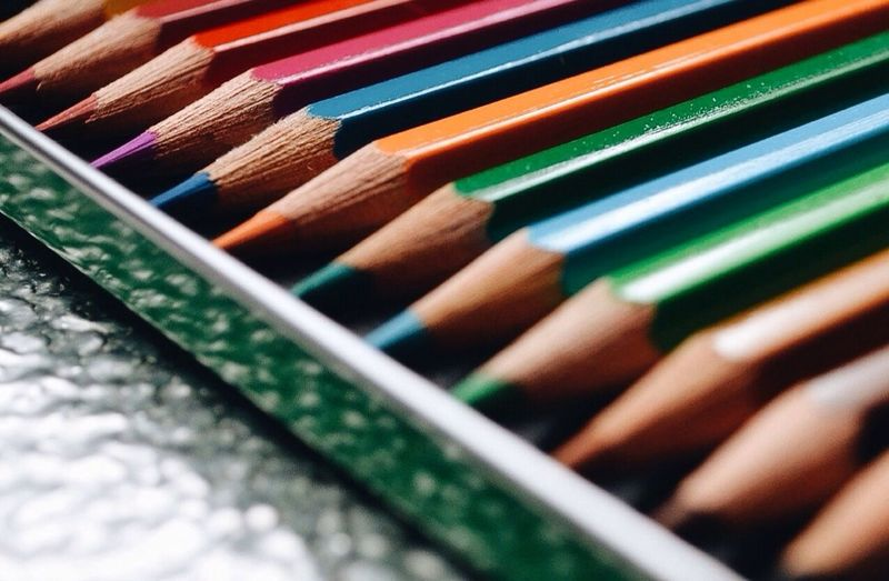 Full frame shot of multi colored pencils