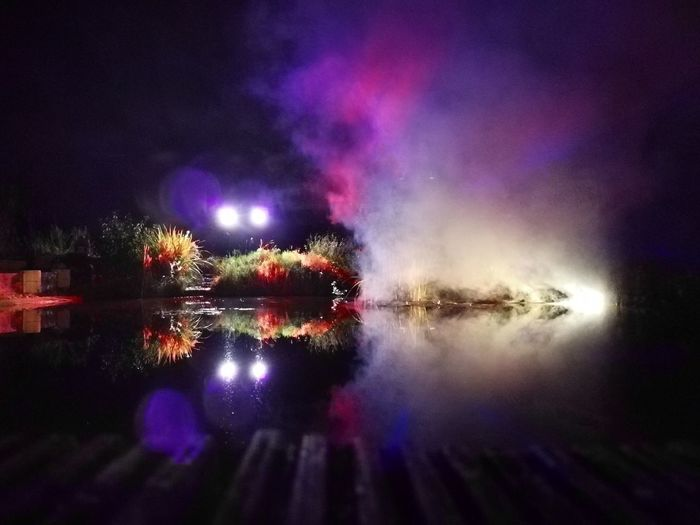 smoke on the water Galaxy Astronomy Multi Colored Water Illuminated Arts Culture And Entertainment Star - Space Celebration Reflection Purple Firework - Man Made Object Entertainment Event Music Concert