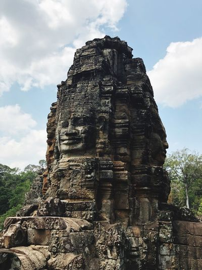 Temple Angkor Wat Sky Cloud - Sky Nature Day Architecture Belief Art And Craft History Spirituality Religion Place Of Worship The Past No People Sculpture