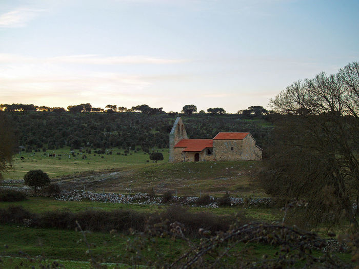Agriculture Architecture Beauty In Nature Church Cloud - Sky Country Life Countryside Day Grass Hermitage Landscape Landscape_Collection Nature No People Outdoors Pasture Quercus Quercus Ilex Rural Rural Landscape Scenics Sky Tranquil Scene Tranquility Tree