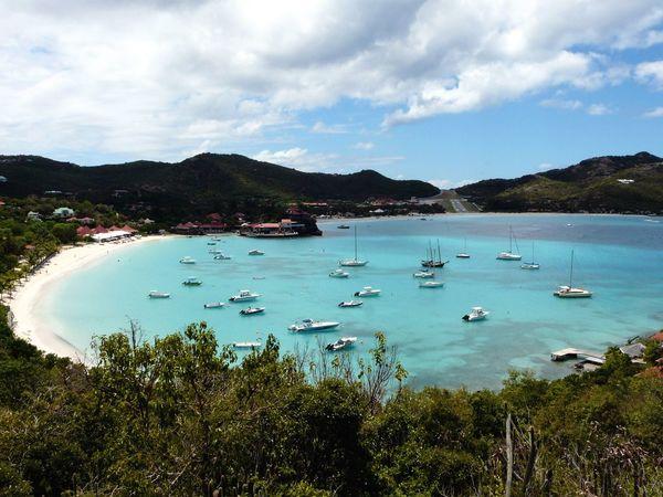 Saint Barth Seascape Beach Boats Eden Island Sea View Sea View