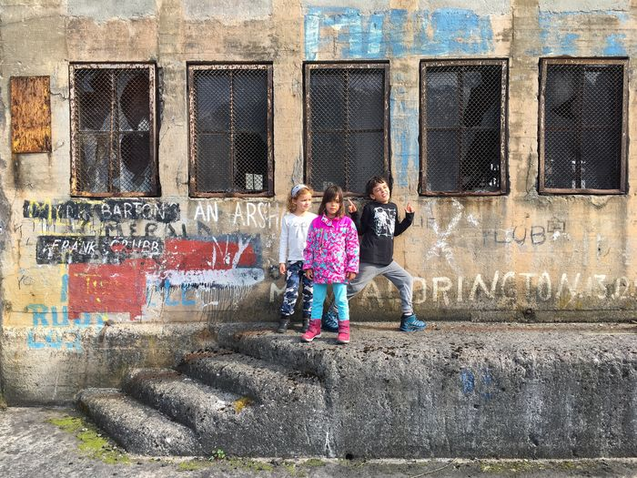 Childhood Child Architecture Building Exterior People Lifestyles Built Structure Norway Old Building  Urban Urban Scene Odda Children Playing Abandoned Abandoned Places Abandoned Buildings