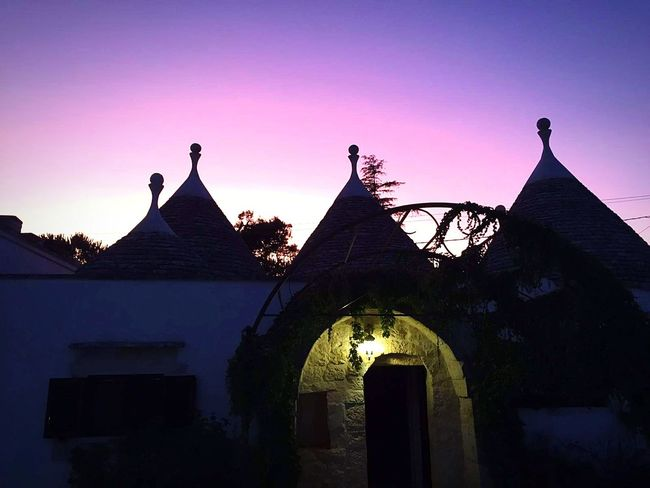 Architecture Sunset Silhouette History Religion Night Travel Destinations Outdoors No People Built Structure Ancient Dawn Sky Building Exterior King - Royal Person Trulli Puglia Trulli Houses Trullilovers Trulli