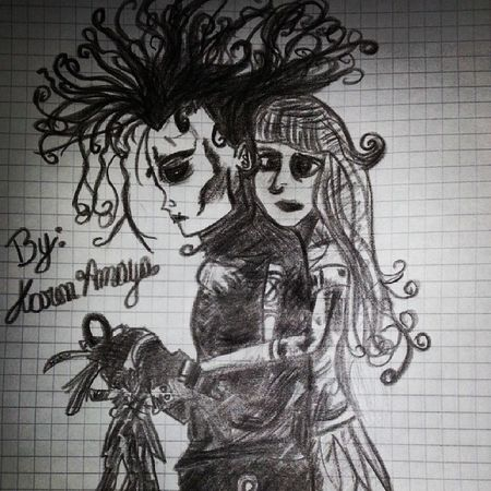 OMG! This Perfect Awesome Greaw Draw Edward ScissorHands El Joven Manos De Tijera Great *-*