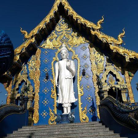 Bouddha  Bouddha Spirit Bouddha Statue Bouddha Temple Thailand Temple Statue Sculpture Blue Sky Close-up Architecture Historic Buddha
