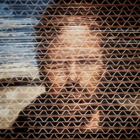 Self Portrait Pattern Full Frame No People Backgrounds Day Metal Fence The Portraitist - 2018 EyeEm Awards