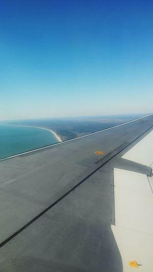 Ocean View Ocean Waves Ocean Plane Planewindowview Plane Wing
