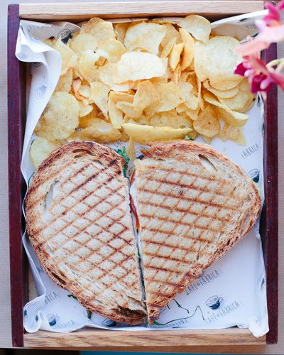 sweet beaty Sandwich Toast Chips Close-up Day Directly Above Food Food And Drink Freshness Heart Heart Shape Indoors  Indulgence No People Paper Plate Ready-to-eat Still Life Table Toasted Bread Unhealthy Eating