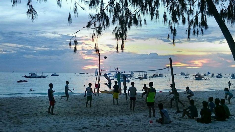 Beach Life Philippines Island Life Visayas Boracay Beach Volleyball Volleyball Sunset Ph Life Is A Beach