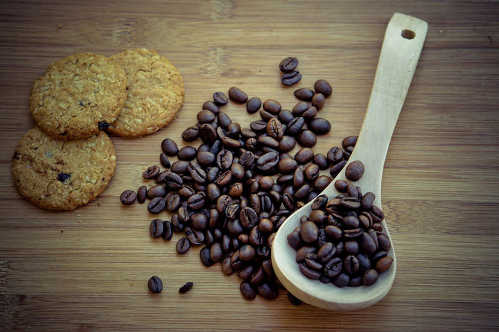 Brown Close-up Coffee Bean Day Food Food And Drink Freshness Group Of Objects High Angle View Indoors  No People Raw Coffee Bean Roasted Coffee Bean Still Life Table