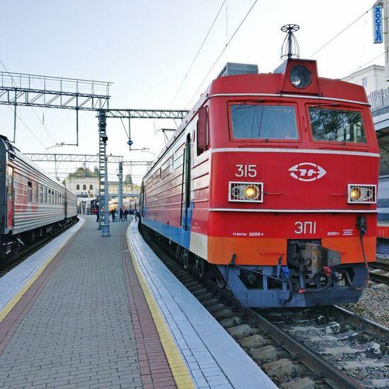 Transsiberian Railway Rossia Transportation Vladivostok Station No People Train - Vehicle Public Transportation Railroad Track Railroad Station Platform Red Sky Day
