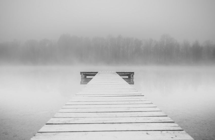 Atmospheric Mood Blackandwhite Different EyeEm Nature Lover Fog Fog_collection Foggy Forest From My Point Of View Lake Landscape Monochrome No People Silence Silhouette Surrealism Tranquil Scene White Backgrounds Softness Getting Inspired Melancholic Landscapes Sillouette Showcase April Getting Creative