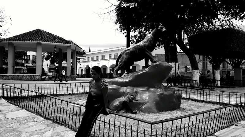 This is a park from comitan with a lot of history, its close to center. Black & White Quiosco Church Comitan, Chiapas