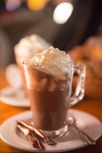 Hot cocoa Cocoa Hot Cocoa  Food And Drink Drink Refreshment Food Glass Household Equipment Drinking Glass Freshness Close-up Sweet Food Coffee - Drink EyeEmNewHere