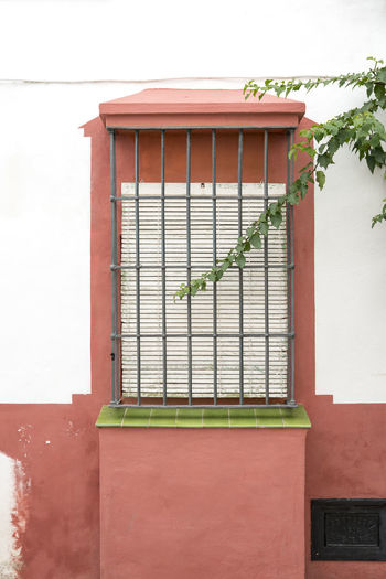 SPAIN Architecture Colours Minimalism Minimalist Architecture Building Exterior Built Structure Building Window Residential District Day Nature No People Outdoors Plant Metal Wall - Building Feature House Green Color Safety Protection Entrance Red Branch