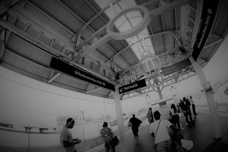 Calm Day Indoors  InfluentialFemale Large Group Of People Real People Rosa Parks Train Station Watts Los Angeles