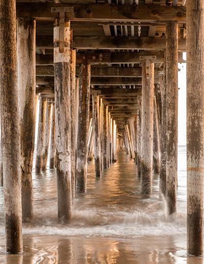 Interior of pier