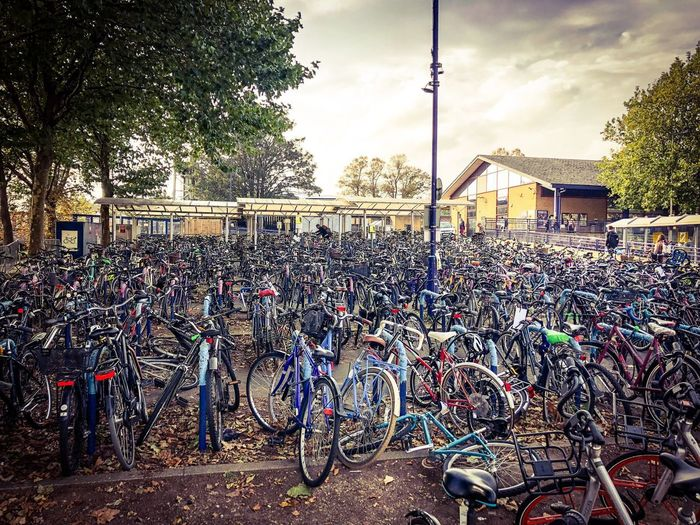 Train Parking Bicycle